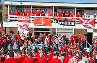 Aberdeen fans enjoy the atmosphere before the match <br /> <br /> Photographer Alex Dodd/CameraSport<br /> <br /> UEFA Europa League - Europa League Qualifying Round 2 2nd Leg - Burnley v Aberdeen - Thursday 2nd August 2018 - Turf Moor - Burnley<br />  <br /> World Copyright © 2018 CameraSport. All rights reserved. 43 Linden Ave. Countesthorpe. Leicester. England. LE8 5PG - Tel: +44 (0) 116 277 4147 - admin@camerasport.com - www.camerasport.com