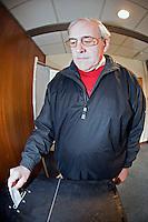 Voter posting his vote into the Ballot Box..©shoutpictures.com..john@shoutpictures.com