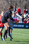 KANSAS CITY, MO - DECEMBER 02: Ana Dilkes (1) of the University of Central Missouri fields a loose ball during the Division II Women's Soccer Championship held at the Swope Soccer Village on December 2, 2017 in Kansas City, Missouri. (Photo by Doug Stroud/NCAA Photos/NCAA Photos via Getty Images)
