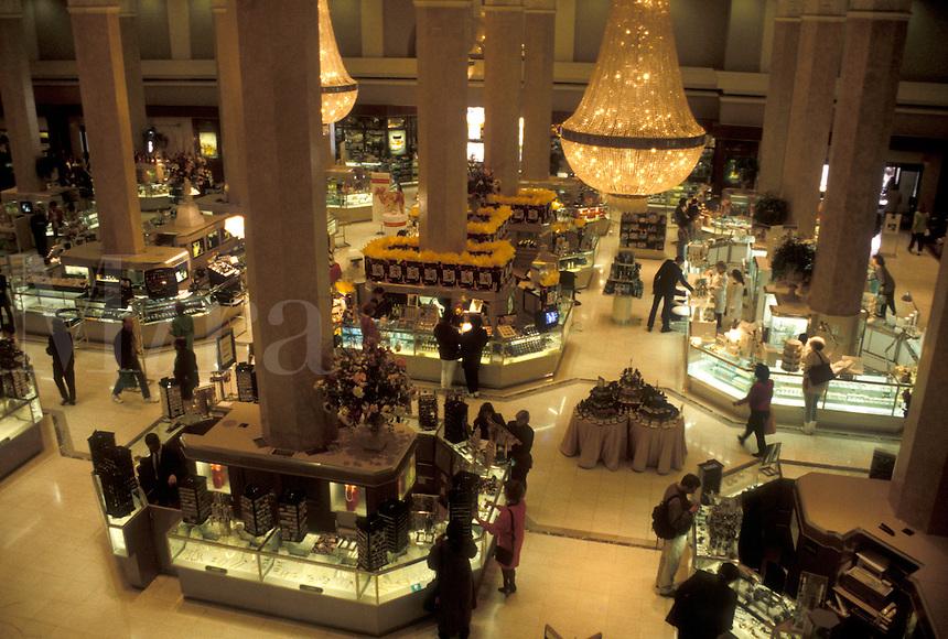 department store, Atlanta, GA, Georgia, Interior of Macy's Department Store in downtown Atlanta.