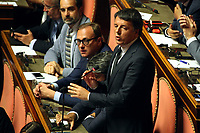 Matteo Renzi<br /> Rome August 20th 2019. Senate. Speech of the Prime Minister about the crisis of Government. Just after the speech the Premier went to the President of the Republic to resign<br /> Foto  Insidefoto