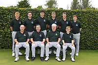 Interprovincial Championship Teams.<br /> Connacht Golf:<br /> Front: Joe Lyons, Simon Rooney, Diarmaid Caulfield Team Captain, David Kitt.<br /> Back Allan Hill, Alex Gleeson, TJ Ford, Sean Flanagan Jack McDonnell and Ronan Mullarney.<br /> During the Interprovincial Championship 2018, Athenry golf club, Galway, Ireland. 30/08/2018.<br /> Picture Fran Caffrey / Golffile.ie<br /> <br /> All photo usage must carry mandatory copyright credit (&copy; Golffile | Fran Caffrey)