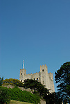 View of Rochester Castle and blue sky