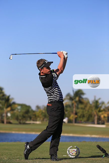 Luke Donald (ENG) on the 9th during day one at the WGC Cadillac championship at Doral Golf Resort & Spa,Doral, Florida,USA..Picture: Fran Caffrey / www.golffile.ie ..