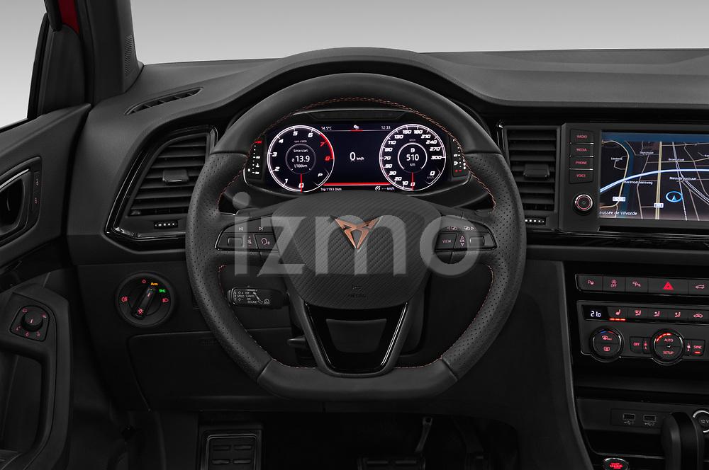 Car pictures of steering wheel view of a 2019 Cupra Ateca Xcellence 5 Door SUV Steering Wheel