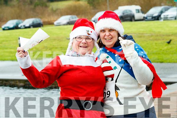 Sheila Duggan, Margaret O'Shea (Tralee), who took part in the Santa Run at Tralee Bay Wetlands on Sunday morning last.