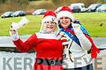 Sheila Duggan, Margaret O'Shea (Tralee), who took part in the Santa Run at Tralee Bay Wetlands on Sunday morning last.