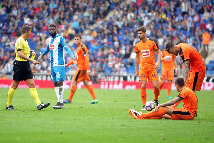 League Santander 2016/2017. Game: 9.<br /> RCD Espanyol vs SD Eibar: 3-3.