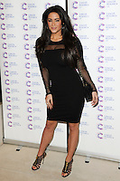 Casey Batchelor arriving at James' Jog On To Cancer Event, Kensington Roof Gardens, London. 09/04/2014 Picture by: Alexandra Glen / Featureflash