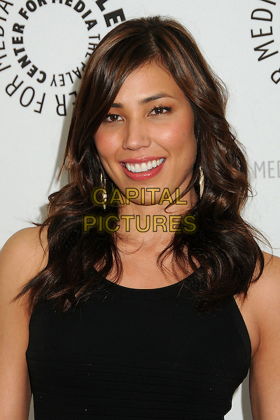 "MICHAELA CONLIN.An Evening with ""Bones"" Presented by the Paley Center for Media held at The Paley Center,  Beverly Hills, California, USA, 9th May 2011..portrait headshot black sleeveless smiling .CAP/ADM/BP.©Byron Purvis/AdMedia/Capital Pictures."
