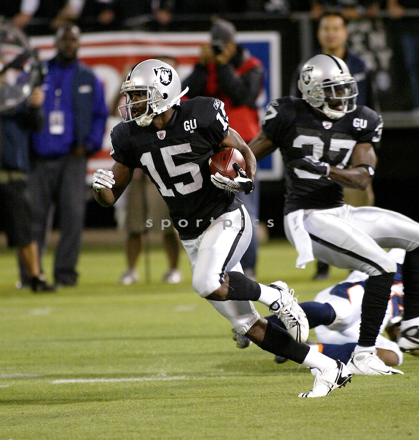 JOHNNIE LEE HIGGINS, of the Oakland Raiders, in action during the Raiders game against the  Denver Broncos  on September 8, 2008 in Oakland California...The Denver Broncos win 41-14