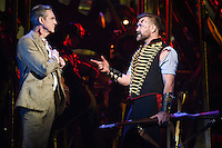 "Michael Praed and Daniel Bedingfield<br /> in the musical of ""The War of the Worlds"" at the Dominion Theatre, London.<br /> <br /> <br /> ©Ash Knotek  D3083 12/02/2016"