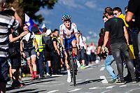 Picture by Alex Whitehead/SWpix.com - 30/09/2018 - Cycling - UCI 2018 Road World Championships - Innsbruck-Tirol, Austria - Elite Men's Road Race. Tao Geoghegan Hart of Great Britain.
