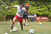 SÃO PAULO, SP, 19.08.2015 - FUTEBOL-SÃO PAULO -  Centurion durante treino do São Paulo Futebol  no Centro de Treinamento da Barra Funda, na manhã desta quarta-feira, 19. (Foto: Adriana Spaca/Brazil Photo Press)