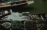 FRUITS AND VEGETABLES FOR SALE AT THAILAND FLOATING MARKET