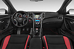 Stock photo of straight dashboard view of 2015 Hyundai I30 Turbo 5 Door Hatchback