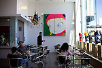 The ground-floor cafe at New People, a five-story, glass-walled retail building that holds a cafe, movie theater, five shops and a gallery, in Japantown, in San Francisco, Ca., on Saturday, May 29, 2010.