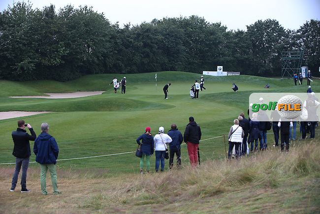 View of the 2nd green during the Final Round of the BMW International Open 2014 from Golf Club Gut Lärchenhof, Pulheim, Köln, Germany. Picture:  David Lloyd / www.golffile.ie