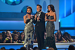 CORAL GABLES, FL - APRIL 24: (L-R) Laura Flores, Raul Gonzalez and Roselyn Sanchez onstage during the 2014 Billboard Latin Music Awards at BankUnited Center on April 24, 2014 in coral Gables, Florida. (Photo by Johnny Louis/jlnphotography.com)