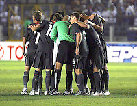 USA starting eleven team huddle. The US men's national team defeated Guatemala 1-0 in the semifinal round of qualifying for the 2010 FIFA World Cup on August 20, 2008.