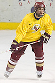 Benn Ferreiro - Boston College's morning skate on Friday, December 30, 2005 at Magness Arena in Denver, Colorado.  Boston College defeated Ferris State that afternoon in a shootout and defeated Princeton the following night to win the Denver Cup.