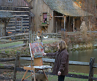 Artist at the Historic Cuttalossa Farm, Pennsylvania
