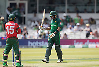 Babar Azam (Pakistan) acknowledges his half century during Pakistan vs Bangladesh, ICC World Cup Cricket at Lord's Cricket Ground on 5th July 2019