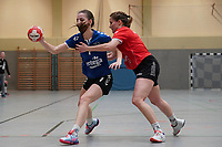 Liv Kornhuber (Walldorf) gegen Christine Hüther (Darmstadt) - Mörfelden-Walldorf 09.02.2020: TGS Walldorf vs. TGB Darmstadt, Sporthalle
