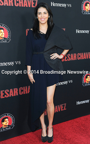 Pictured: Olga Segura<br /> Mandatory Credit &copy; Adhemar Sburlati/Broadimage<br /> Film Premiere of Cesar Chavez<br /> <br /> 3/20/14, Hollywood, California, United States of America<br /> <br /> Broadimage Newswire<br /> Los Angeles 1+  (310) 301-1027<br /> New York      1+  (646) 827-9134<br /> sales@broadimage.com<br /> http://www.broadimage.com