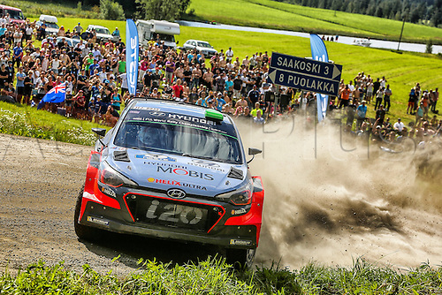 31.07.2016. Jyväskylä, Finland. WRC Rally of Finland, final day.  Hayden Paddon (NZ)- Kennard (NZ) Hyundai I20 WRC