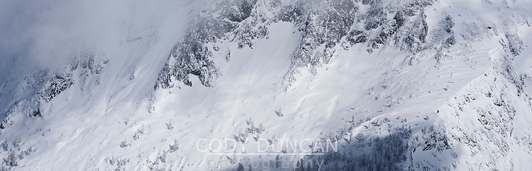 Hoher Goell massif in winter, Berchtesgaden national park, Bavaria, Germany