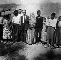 Iran 1947.A wedding in the village of the family Ghassemlou.Iran 1947.Un mariage au village de  la famille  Ghassemlou  a gauche la mariee, puis son pere Ahmed agha, le pere de Hassan Shatavi, derriere Ibrahim Ghassemlou, Goulanda, Salah , frere de Soheila etc....