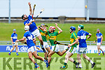 Steven Leen, St Brendans captain takes possession of the sliotar under pressure from Lixnaw, in the Qtr final of the Senior Hurling Championship in Austin Stack Park on Sunday.