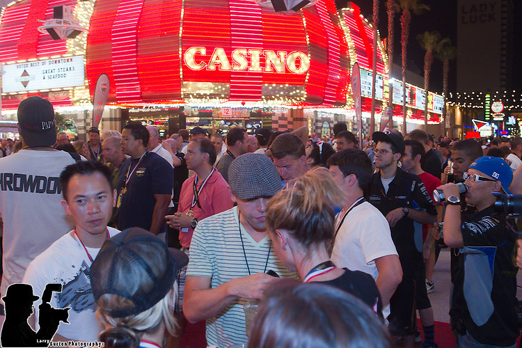 """Fremont Street Experience is the final leg of the BULLRUN which will finish on Friday night at the Fremont Street Experience at 8pm.     The rally is an annual event, filmed for the TV show """"Cops, Cars & Superstars,"""" in which one hundred of the world's hottest cars embark on an eight-day race that ends in Las Vegas."""