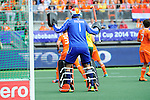 The Hague, Netherlands, June 15: Jaap Stockmann #1 of The Netherlands in action during the field hockey gold match (Men) between Australia and The Netherlands on June 15, 2014 during the World Cup 2014 at Kyocera Stadium in The Hague, Netherlands. Final score 6-1 (2-1)  (Photo by Dirk Markgraf / www.265-images.com) *** Local caption ***