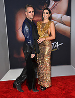 LOS ANGELES, CA. February 05, 2019: Dua Lipa &amp; Justin Tranter at the premiere for &quot;Alita: Battle Angel&quot; at the Regency Village Theatre, Westwood.<br /> Picture: Paul Smith/Featureflash