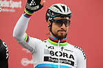 World Champion Peter Sagan (SVK) Bora-Hansgrohe at sign on before the start of the 2017 Strade Bianche running 175km from Siena to Siena, Tuscany, Italy 4th March 2017.<br /> Picture: Heinz &amp; Sabine Zwicky/Radsport.ch | Newsfile<br /> <br /> <br /> All photos usage must carry mandatory copyright credit (&copy; Newsfile | Heinz &amp; Sabine Zwicky/Radsport.ch)