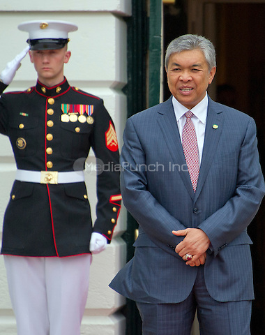 Dr. Ahmad Zahid Hamidi, Deputy Prime Minister of Malaysia arrives for the working dinner for the heads of delegations at the Nuclear Security Summit on the South Lawn of the White House in Washington, DC on Thursday, March 31, 2016.<br /> Credit: Ron Sachs / Pool via CNP/MediaPunch