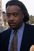 (021305-SWR05.jpg) Brooklyn, NY -- 39 Aug 97 - The Reverend Al Sharpton at a protest against the police sodomy of Abner Louima...© Stacy Walsh Rosenstock