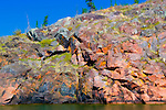 Rocks along the shore of Great Slave Lake