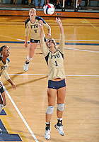 Florida International University women's volleyball player Andrea Lakovic (1) plays against Florida A&M University.  FIU won the match 3-0 on September 11, 2011 at Miami, Florida. .