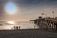 Sunset at Venice Fishing Pier at 67-acre Brohard Park, Venice, Florida, USA. Photo by Debi Pittman Wilkey