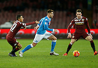 Napoli's David Lopez  during the  italian serie a soccer match,between SSC Napoli and Torino      at  the San  Paolo   stadium in Naples  Italy , January 07, 2016