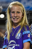 Orlando, FL - Thursday June 23, 2016: Fan during a regular season National Women's Soccer League (NWSL) match between the Orlando Pride and the Houston Dash at Camping World Stadium.