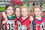 RUNNERS: Fossa girls who ran in the Community Games County Finals at An Riocht Track, Castleisland, last Saturday, l-r: Orla Cronin, Melissa Buckley, Georgina OShea and Jennifer ONeill. .