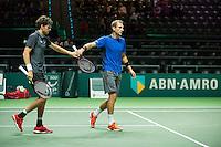 Rotterdam, The Netherlands, Februari 9, 2016,  ABNAMROWTT, Thiemo de Bakker (NED) / Robin Haase (NED)<br /> Photo: Tennisimages/Henk Koster