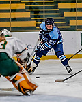 30 November 2018: University of Maine Black Bear Forward Vendula Pribylová, a Junior from Olomouc, Czech Republic, in first period action against the University of Vermont Catamounts at Gutterson Fieldhouse in Burlington, Vermont. The Lady Bears defeated the Lady Cats 2-1 in the first game of their 2-game Hockey East series. Mandatory Credit: Ed Wolfstein Photo *** RAW (NEF) Image File Available ***
