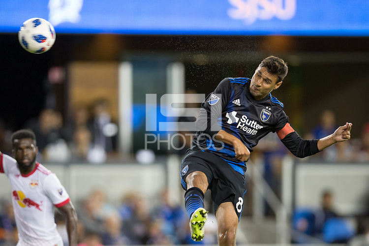 San Jose, CA - Saturday October 06, 2018: Chris Wondolowski during a Major League Soccer (MLS) match between the San Jose Earthquakes and the New York Red Bulls at Avaya Stadium.