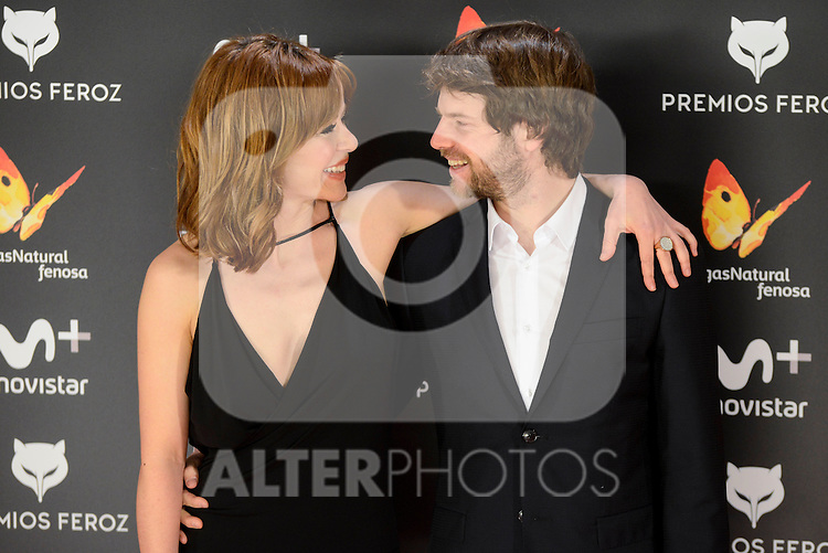 Maria Adanez and her boyfriend attends to the Feroz Awards 2017 in Madrid, Spain. January 23, 2017. (ALTERPHOTOS/BorjaB.Hojas)