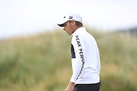 Joakim Lagergren (SWE) on the 7th green during Round 2 of the Dubai Duty Free Irish Open at Ballyliffin Golf Club, Donegal on Friday 6th July 2018.<br /> Picture:  Thos Caffrey / Golffile